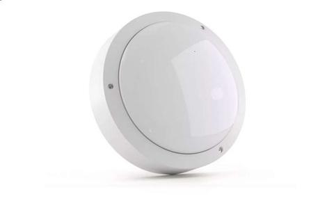 ULW-K13A 10W/5000K IP54 WHITE Светильник светодиодный влагозащищенный. Круг. Белый свет (5000K). 1200Лм.  Корпус белый. ТМ Uniel.