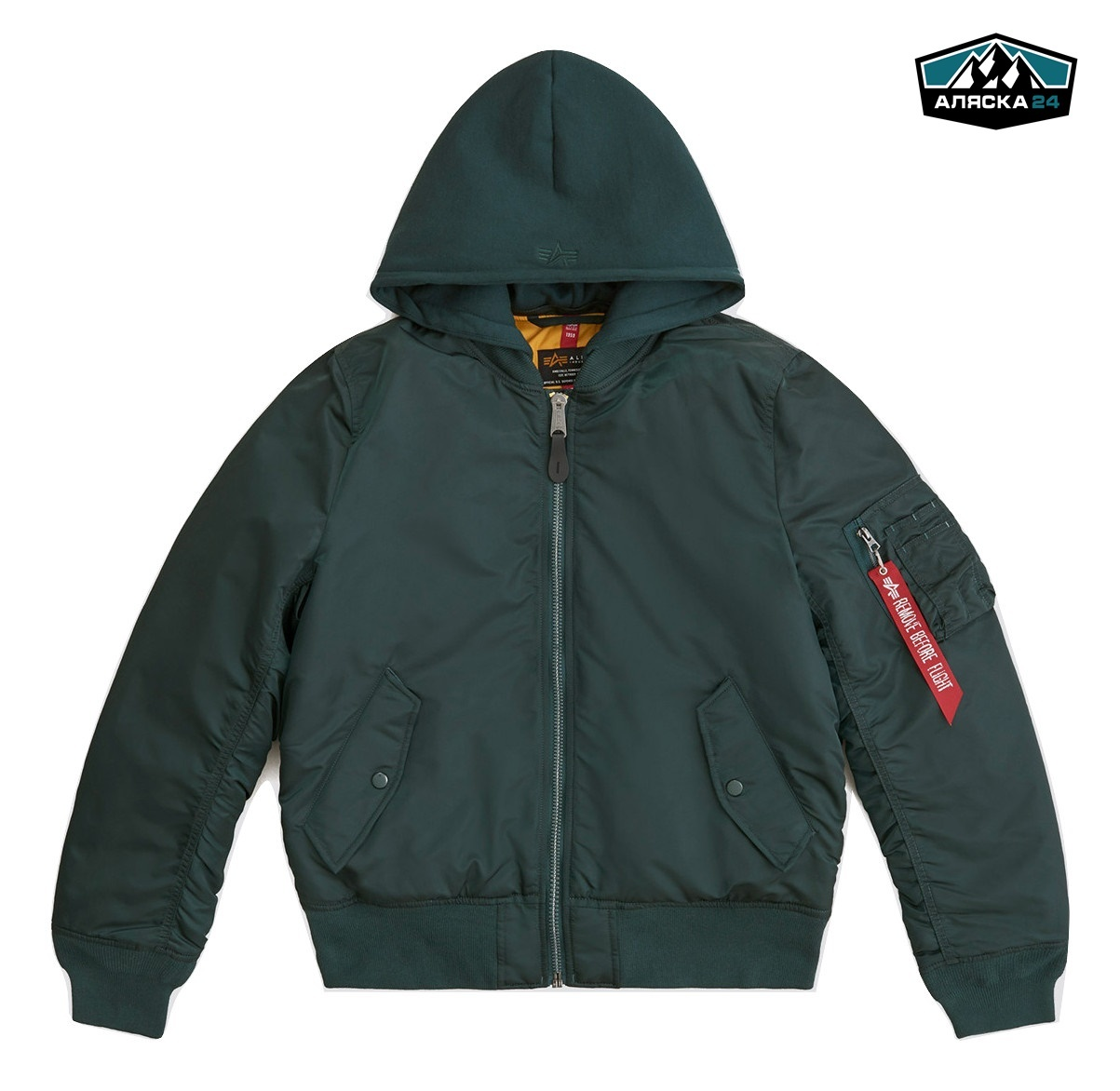 Бомбер Alpha Industries MA-1 Natus Patrol Green