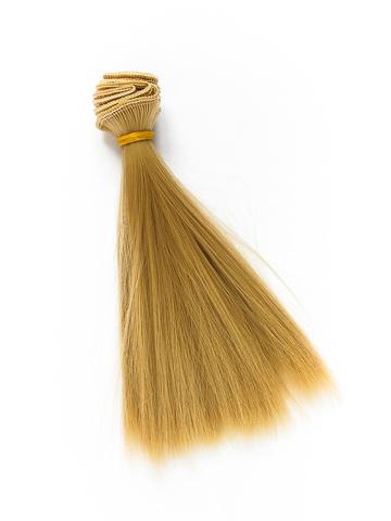 Волосся для ляльки, Let's make треси 15 см. Теплий Блонд