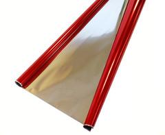 Рулон 0,7 Пленка Металл Красная, 200гр, 70 см*710 см