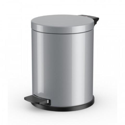 Ведро для мусора с педалью Hailo ProfiLine 12 л нержавеющая сталь серебро (28х36 см)