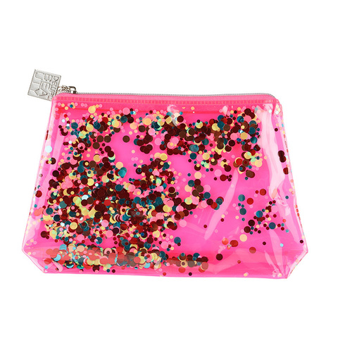 Косметичка Dewal Beauty  (BG-6) Модница розовая 20х5х16 см