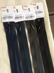 Молния потайная Т3, Riri, 22см, синий кобальт