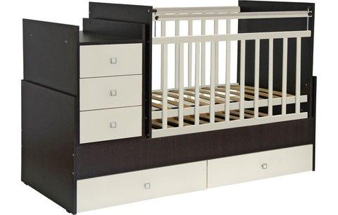 Кроватка детская Фея 1200 венге-бежевый