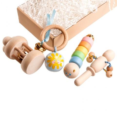 Подарочный набор погремушек Пастельный