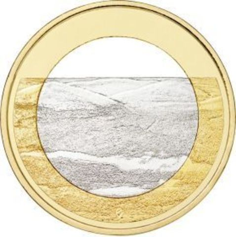"""5 евро Финляндия """"Финские национальные ландшафты Палластунтури"""" 2018 год"""