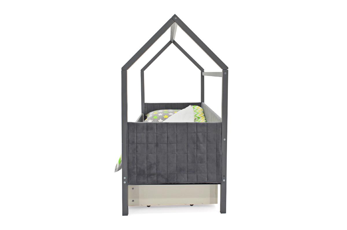Кровать-домик мягкий «Svogen графит»