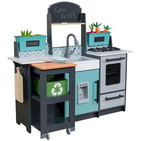 KidKraft Садовый гурман серая - детская интерактивная кухня 53442_KE