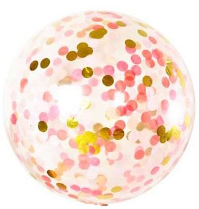 Большой прозрачный шар с конфетти