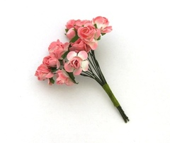 Розы из бумаги яркие, 15 мм, 12 штук.