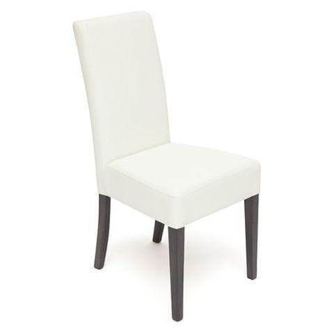Стул обеденный Diana (Диана) деревянный с мягким сиденьем венге, белый