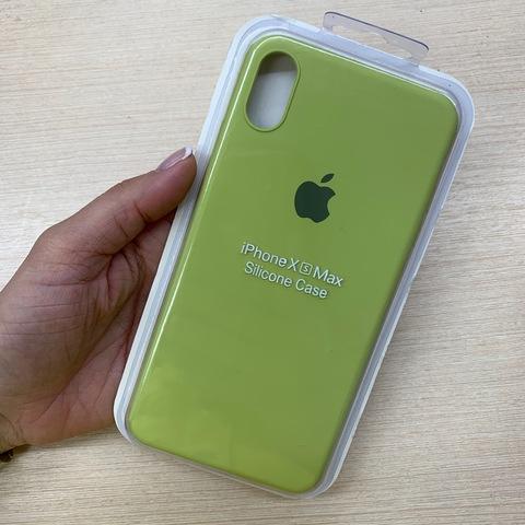 Чехол iPhone XS Max Silicone Slim Case /lime/