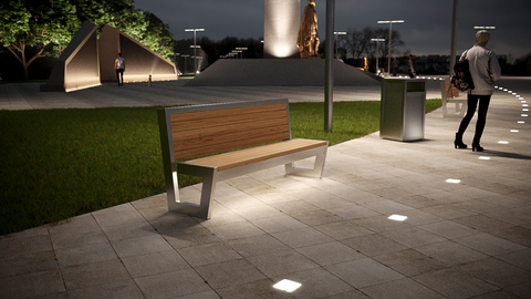 Sofa PARK with lights