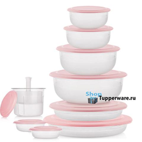 Набор «Сервировочная коллекция» (9 предметов) в розовом цвете