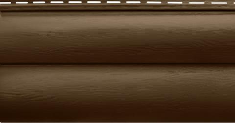 Блок хаус Альта-Профиль двухпереломный Темный орех