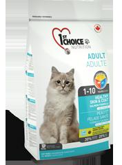Корм для домашних кошек, 1st Choice Здоровая кожа и Шерсть, с лососем