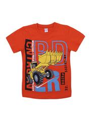 BK002F-59 футболка для мальчика, оранжевая