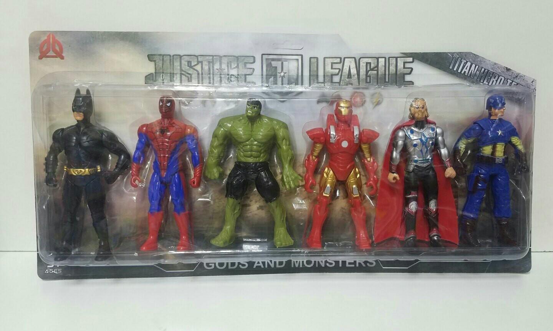 Шесть супер-героев Марвел