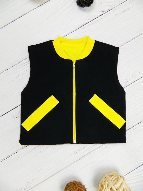 Жилет 3141, черно-желтый