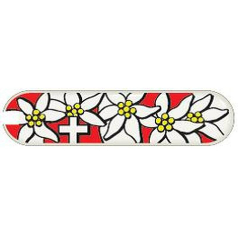 Универсальная накладка для ножей Victorinox 65 мм, пластиковая, дизайн Edelweiss