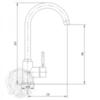 Смеситель для кухни  Migliore Fortis ML.CUC-5282 схема