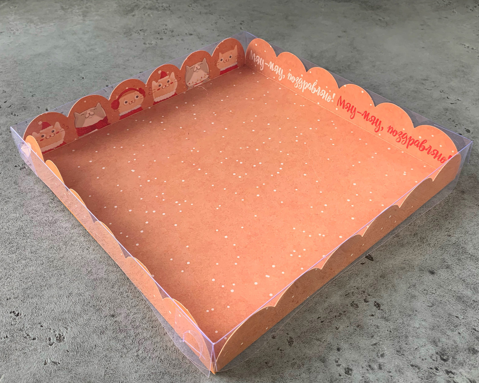 Коробка «Весёлых шалостей»  21х21х3 см