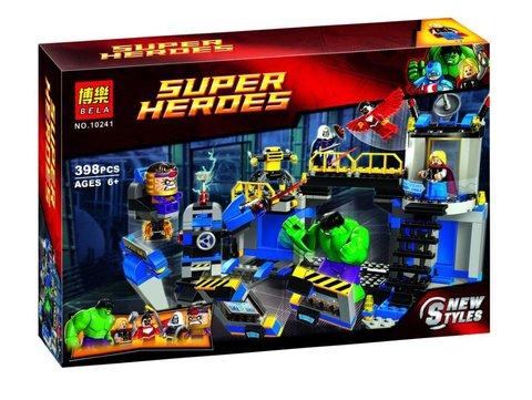 Конструктор супер герои  10241,398д Халк разрушает лабораторию