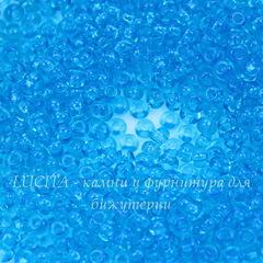 60030 Бисер 8/0 Preciosa прозрачный сине-голубой