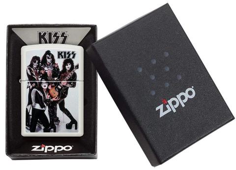 Зажигалка Zippo Kiss с покрытием White Matte, латунь/сталь, белая, матовая, 36x12x56 мм123