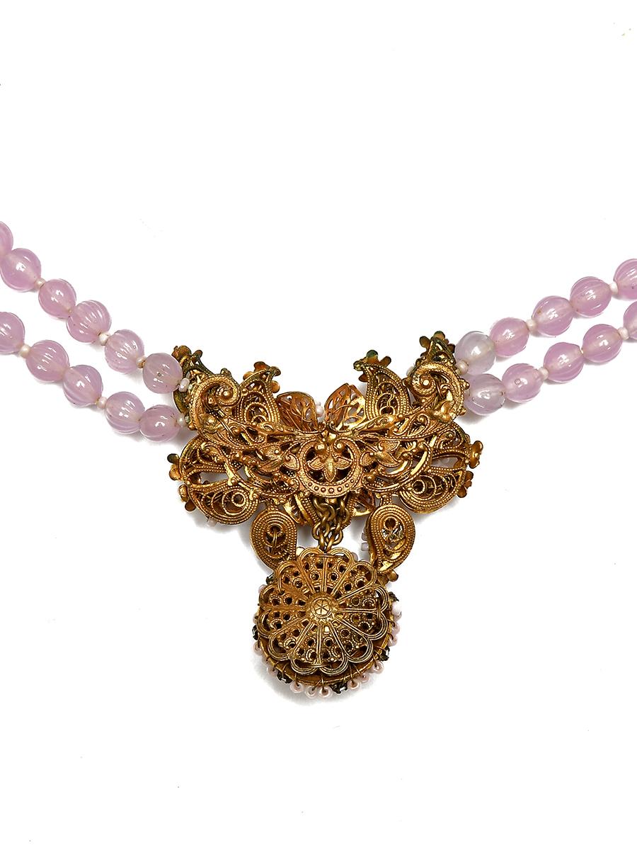 Женственное колье Miriam Haskell лавандового цвета