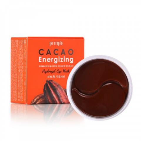 Petitfee Cacao Energizing Hydrogel Eye Patch гидрогелевые патчи с экстрактом какао против отеков