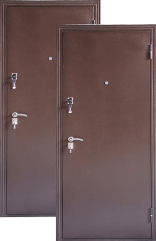 Дверь входная ДС-184 стальная, медь, 2 замка, фабрика Меги