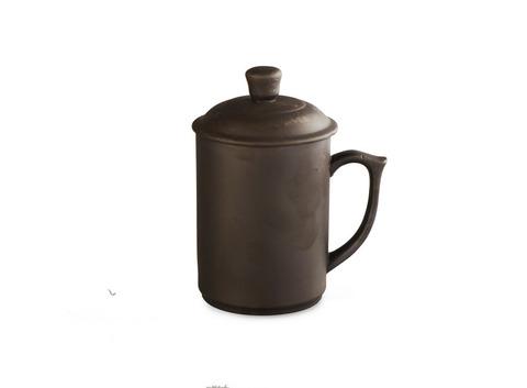 Кружка из глины с крышкой, 400 мл (мелкий брак). Интернет магазин чая