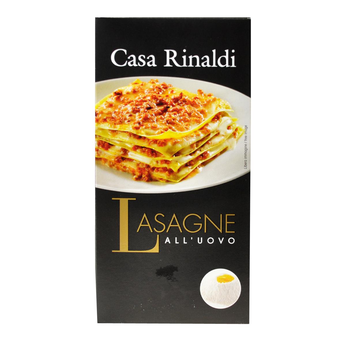 Паста Лазанья с яйцом ручной работы Casa Rinaldi 500 г