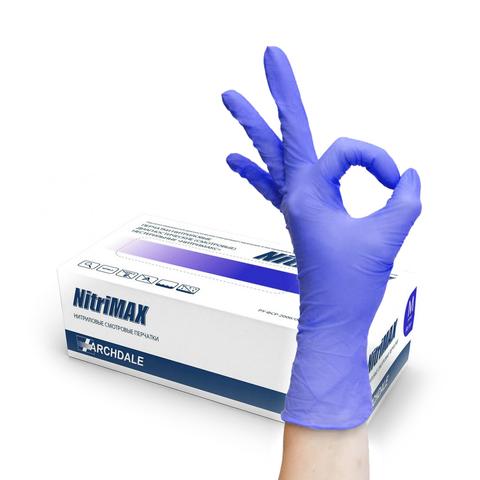 NitriMax, нитриловые перчатки, размер M, 10пар (фиолетовые)