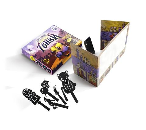 Театр теней CARDBOARD + набор фигурок РУССКИЕ НАРОДНЫЕ СКАЗКИ из картона в подарочной коробке