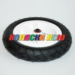 Колесо для детской коляски №007016 надув 10дюймов без вилки 47-152 10х1,75х2 (втулка на ось 8мм)