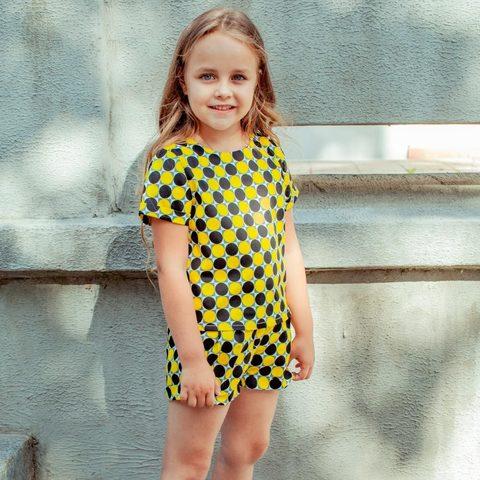 Дитячий костюм футболка і шорти для дівчаток