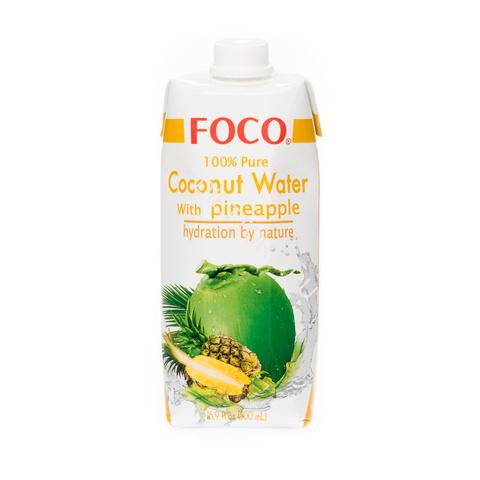 FOCO кокосовая вода с соком ананаса 330 мл