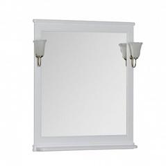 Зеркало Aquanet Валенса 80 белое матовое