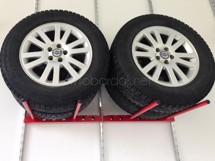 Кронштейны для хранения комплекта шин (горизонтально по 2 колеса)