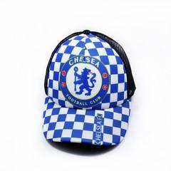 Кепка сетка с логотипом ФК Челси (Бейсболка Chelsea Football Club) синяя