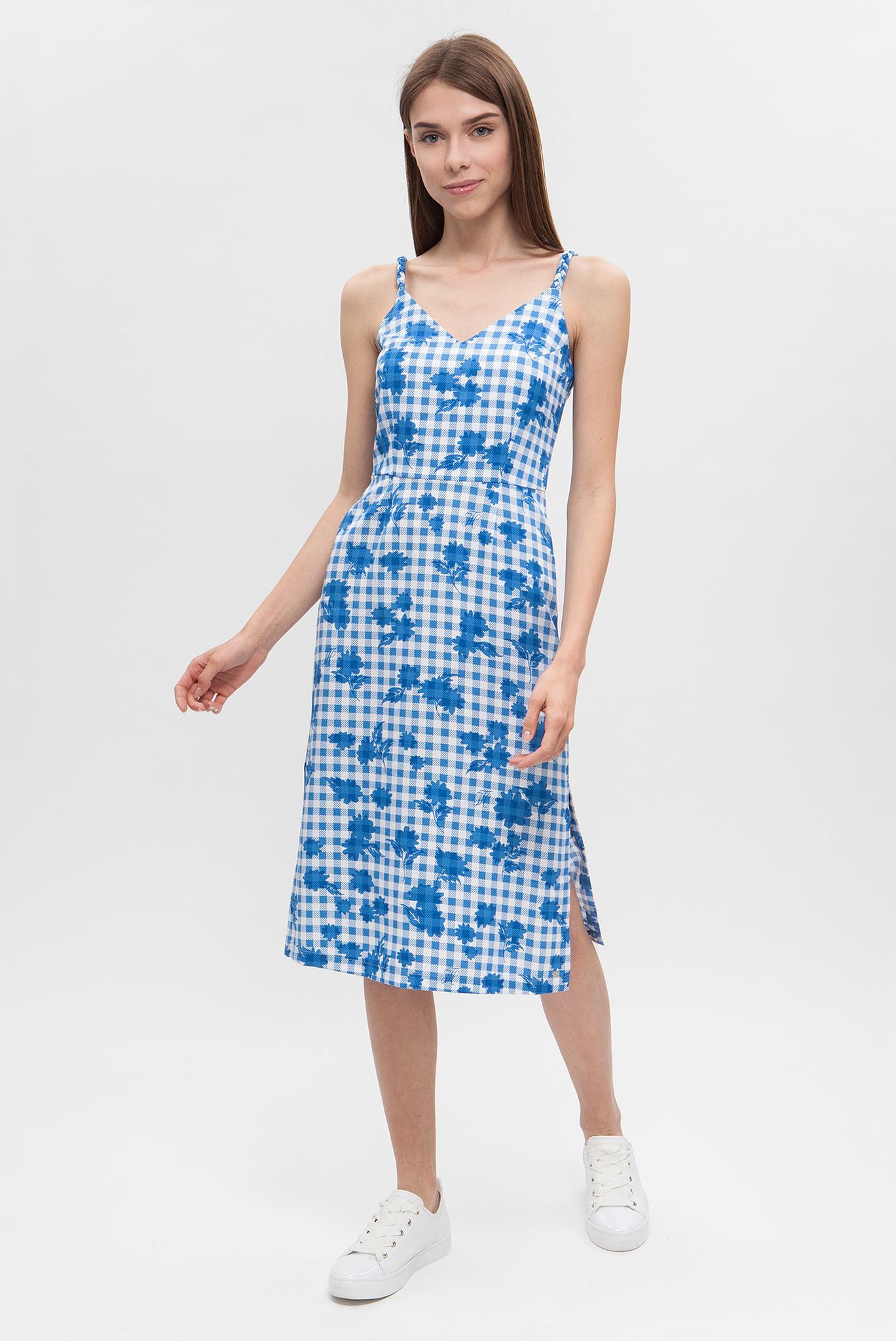Женское голубое платье с принтом Tommy Hilfiger