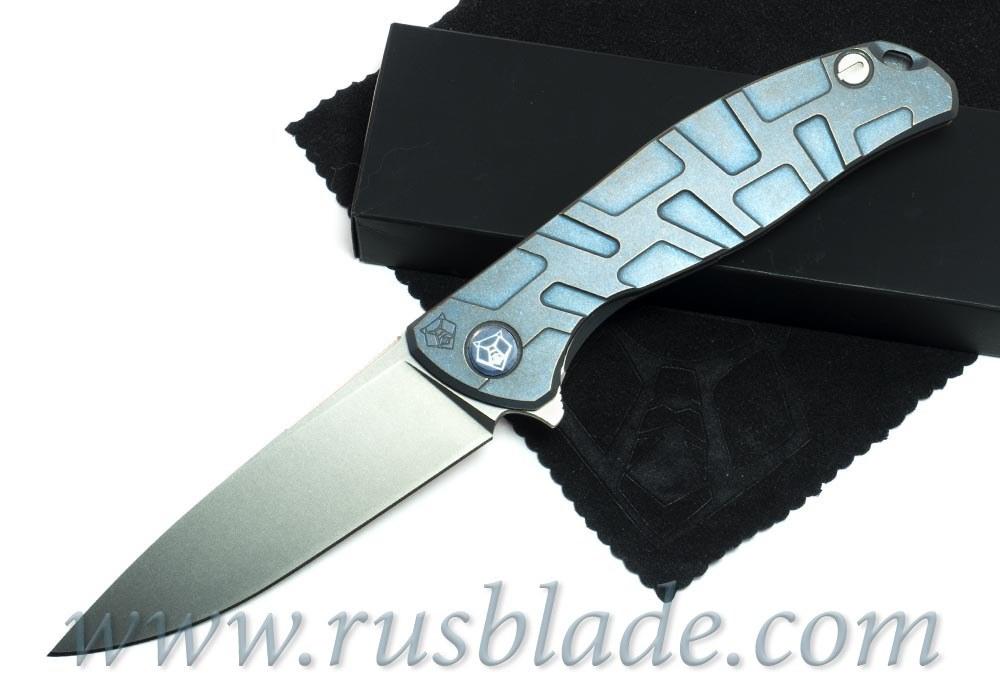 Shirogorov Flipper 95 М390 FS T-mode Blue Anodized