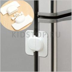 Замок-блокиратор на торец дверки (холодильника, шкафа, ящика)