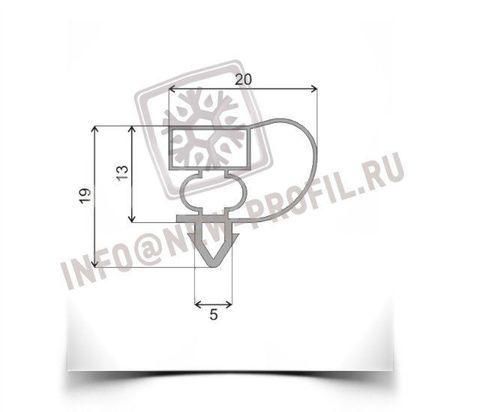 Уплотнитель для холодильного шкафа Inter ТОН-530 (стекло) 1660*550 мм(004)