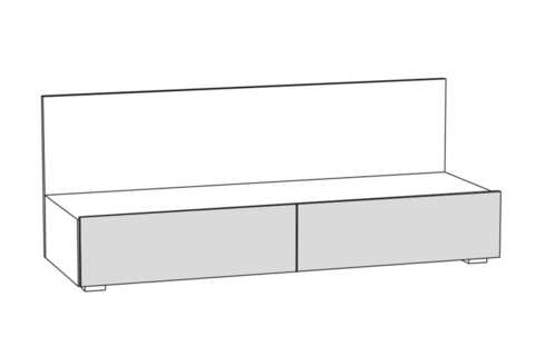 Тумба под ТВ Гринвич 08.115 Моби орех селект каминный/белый премиум