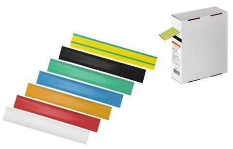 Термоусаживаемая трубка ТУТнг 12/6 желто-зеленая в коробке (10 м/упак) TDM
