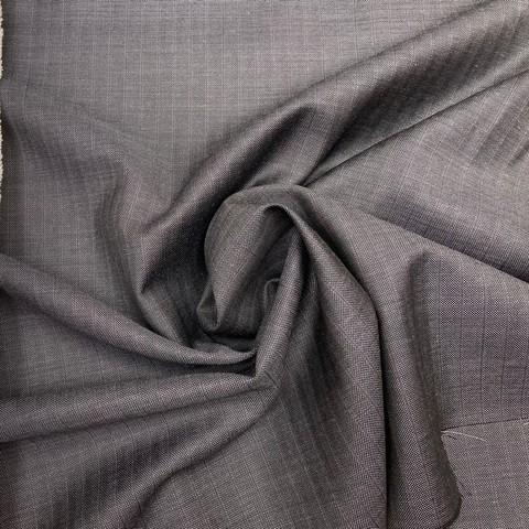 Ткань костюмно-плательная серая в  полоску 3237