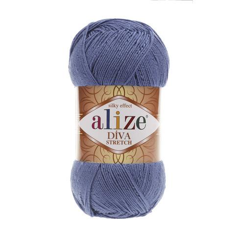 Пряжа Alize Diva Stretch темный джинс 353